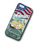 KOOLART AMERICAN MUSCLE Yellow 50's Chevy Corvette Case For Apple iPhone 5 & 5s